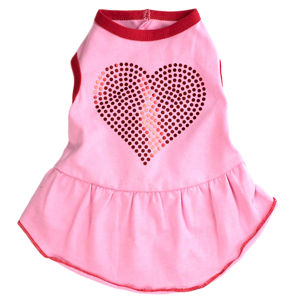 The Worthy Dog Dress, Bling Heart, X-Small