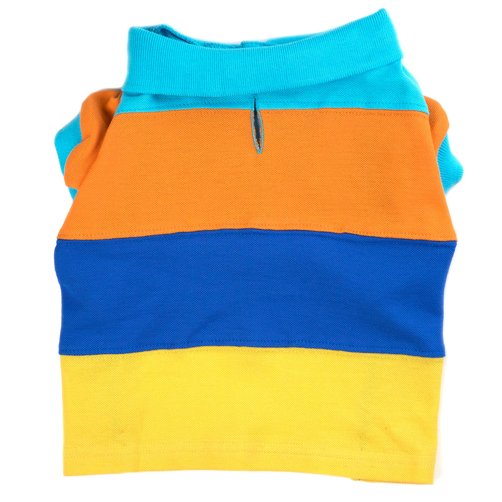 The Worthy Dog Polo Shirt, Primary Colorblock, Small