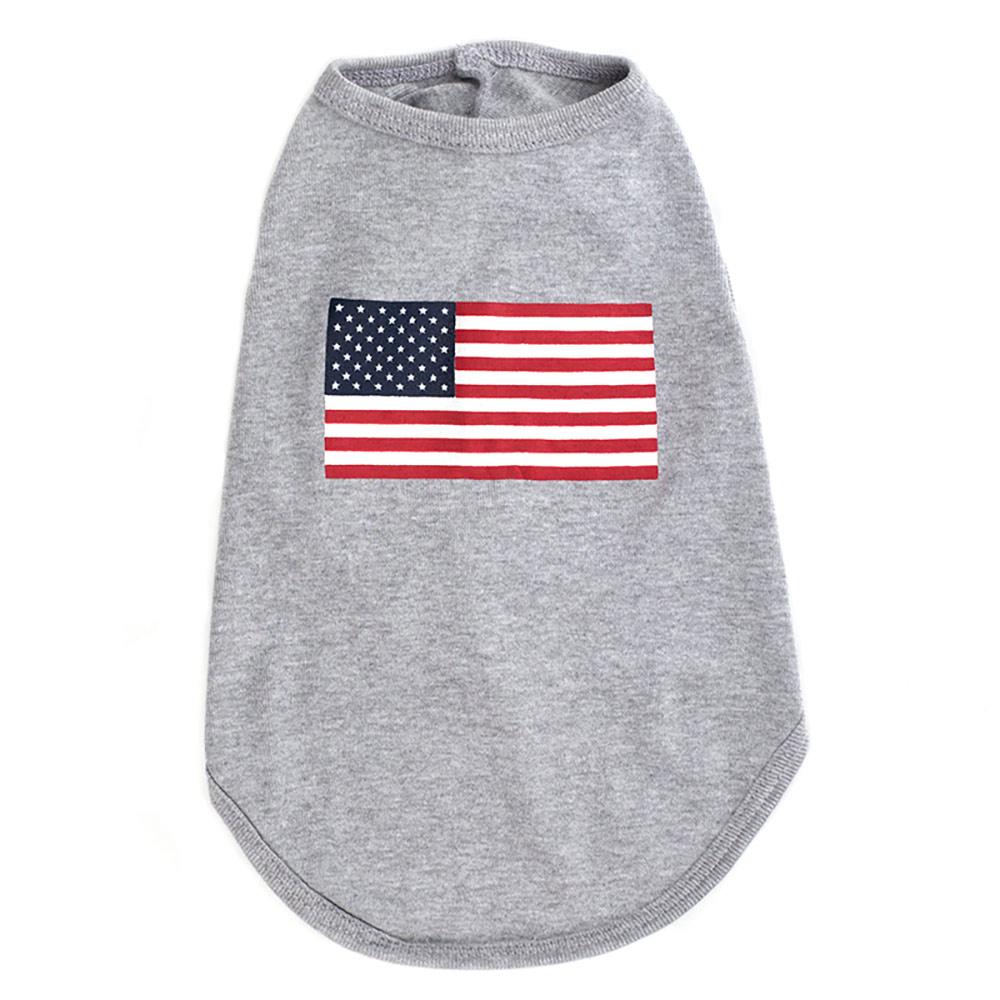 The Worthy Dog Tee, American Flag, Large
