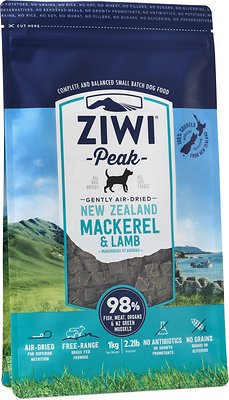 Ziwi Dog Peak Mackerel & Lamb Recipe Air-Dried Dog Food, 2.2-lb bag