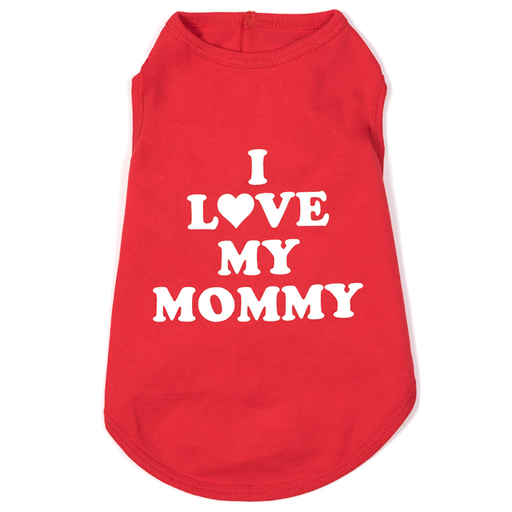 The Worthy Dog Tee, I Love Mommy, X-Small