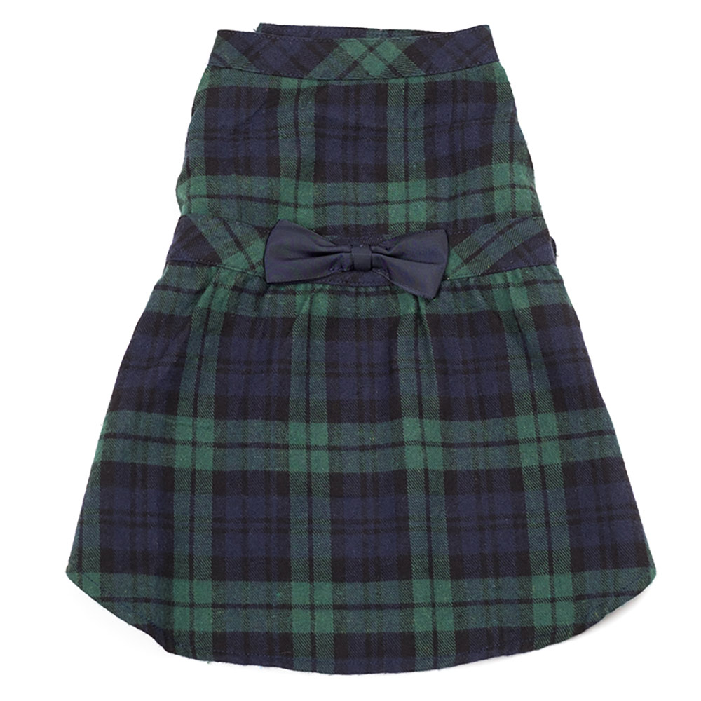 The Worthy Dog Dress, Black Watch Plaid, X-Small