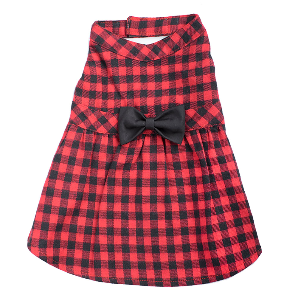 The Worthy Dog Dress, Buffalo Plaid, X-Small