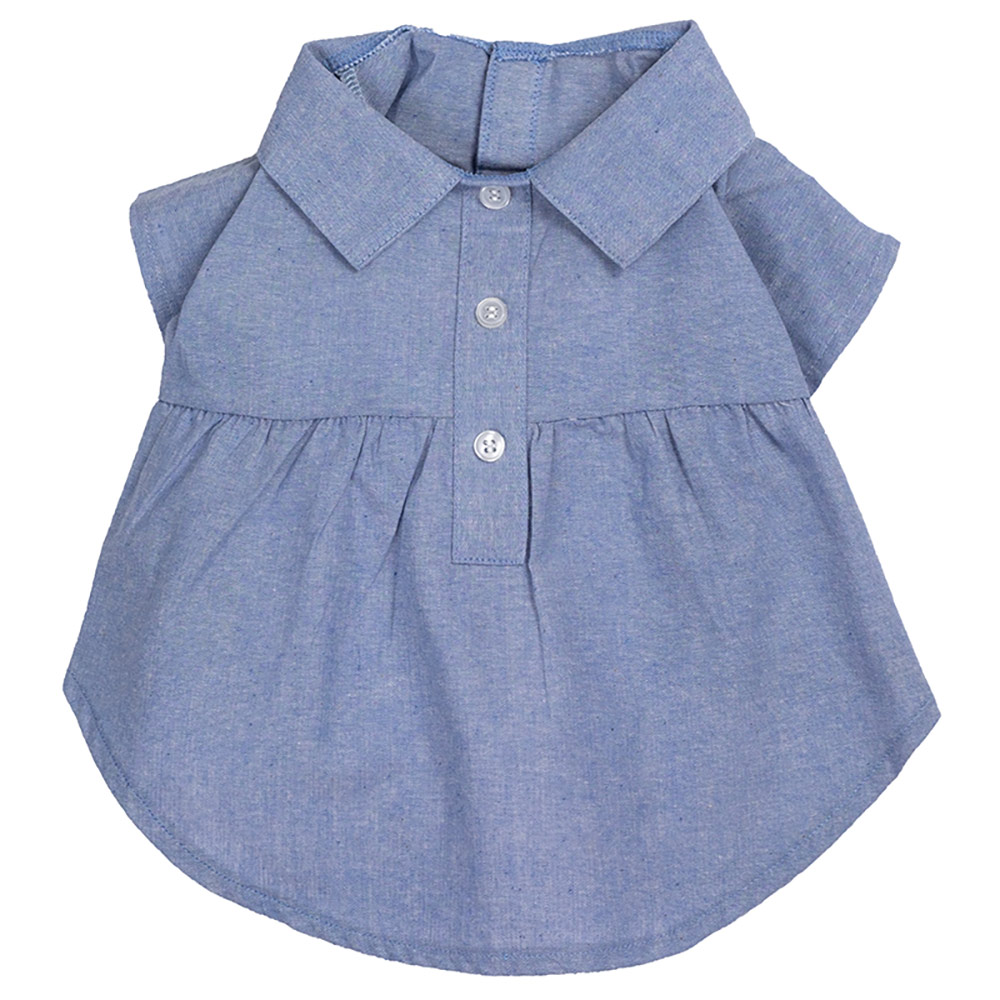 The Worthy Dog Dress, Chambray, X-Small