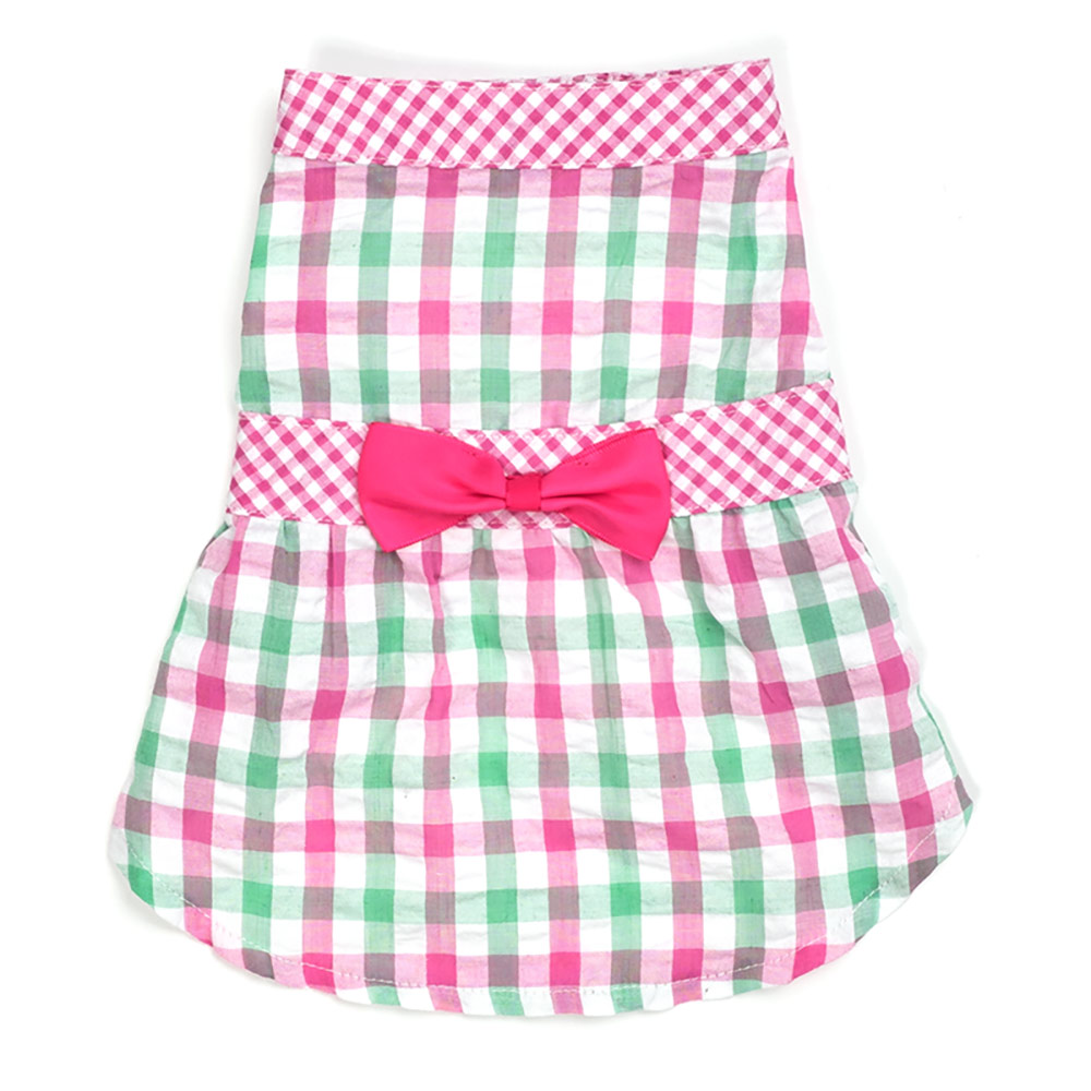 The Worthy Dog Dress, Pink Check Plaid, XX-Large