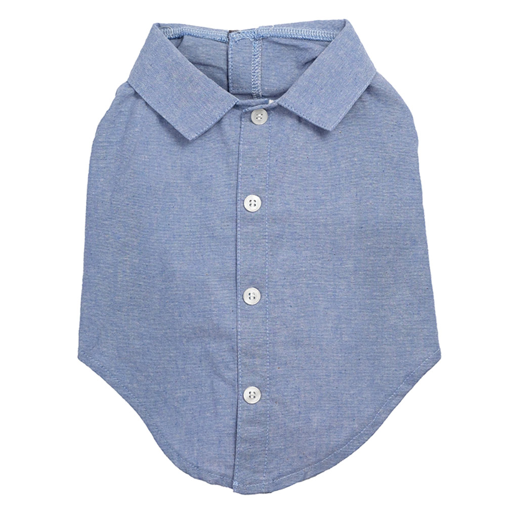 The Worthy Dog Shirt, Chambray, X-Large
