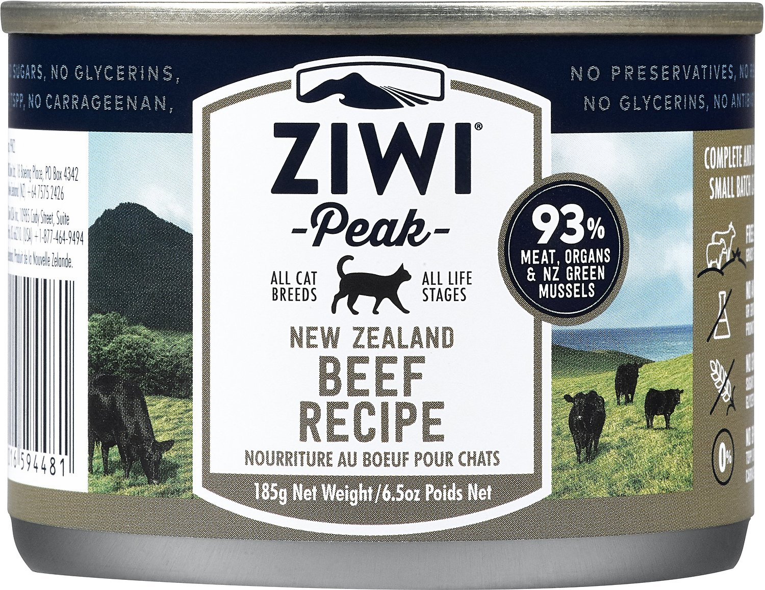 Ziwi Cat Peak Beef Recipe Canned Cat Food, 3-oz