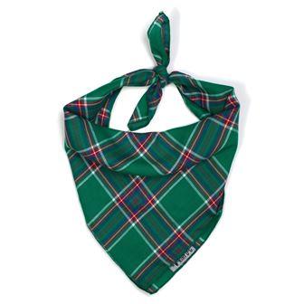 The Worthy Dog Tie Bandana, Kelly Plaid, Large