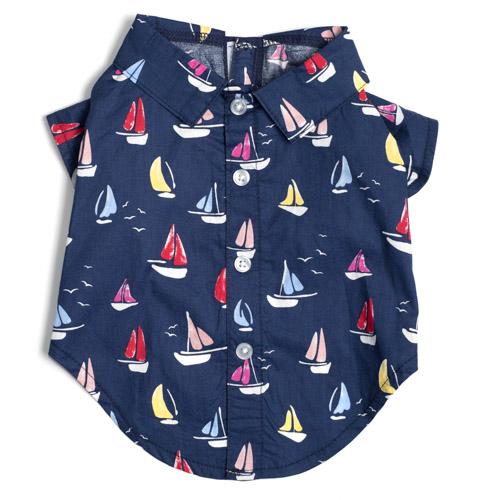 The Worthy Dog Shirt, Sailboats, X-Small