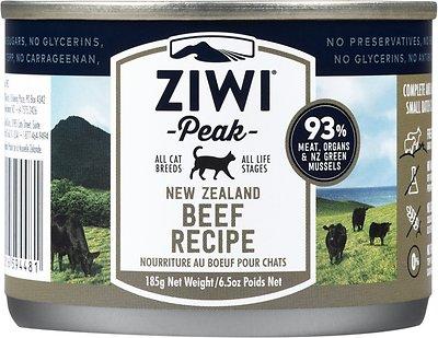 Ziwi Cat Peak Beef Recipe Canned Cat Food, 6.5-oz, case of 12