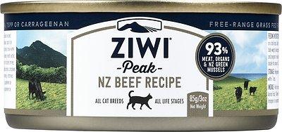 Ziwi Cat Peak Beef Recipe Canned Cat Food, 3-oz, case of 24