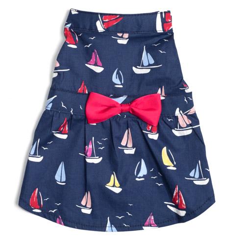 The Worthy Dog Dress, Sailboats, Small