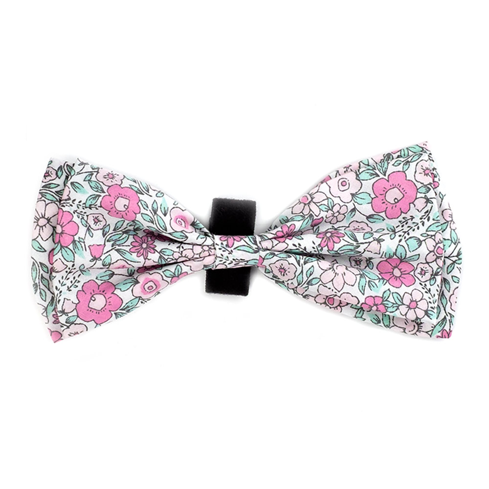 The Worthy Dog Bow Tie, Floral, Large