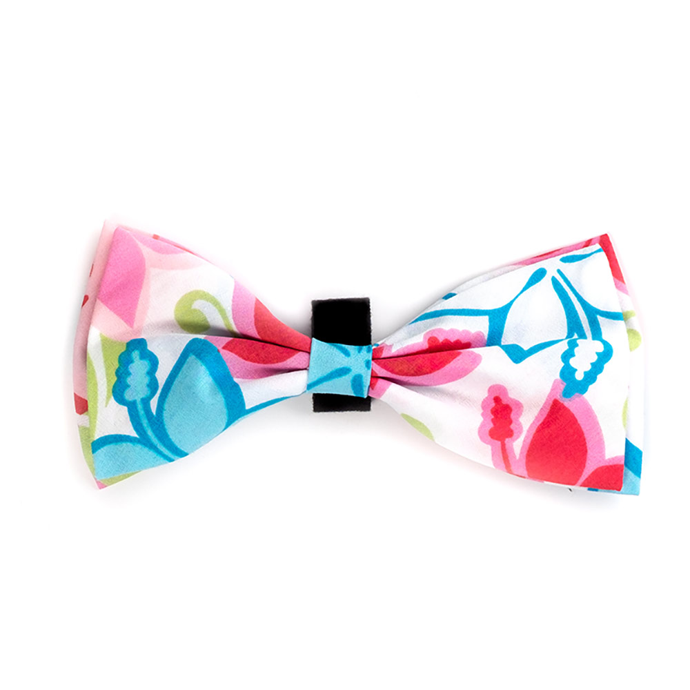 The Worthy Dog Bow Tie, Hibiscus, Large