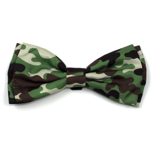 The Worthy Dog Bow Tie, Camo Brown, Large