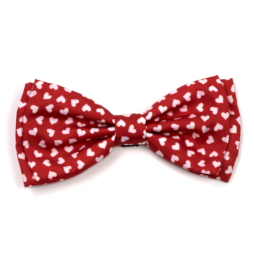 The Worthy Dog Bow Tie, Hearts, Large