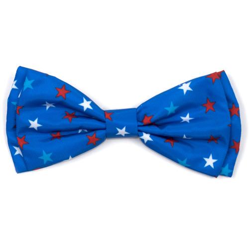 The Worthy Dog Bow Tie, Patriotic Stars, Large