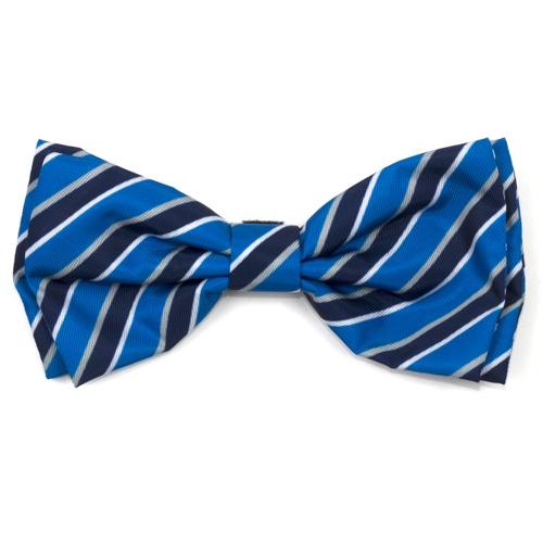 The Worthy Dog Bow Tie, Prep Stripe Blue, Large