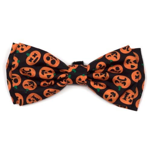 The Worthy Dog Bow Tie, Jack-O'-Lantern, Large