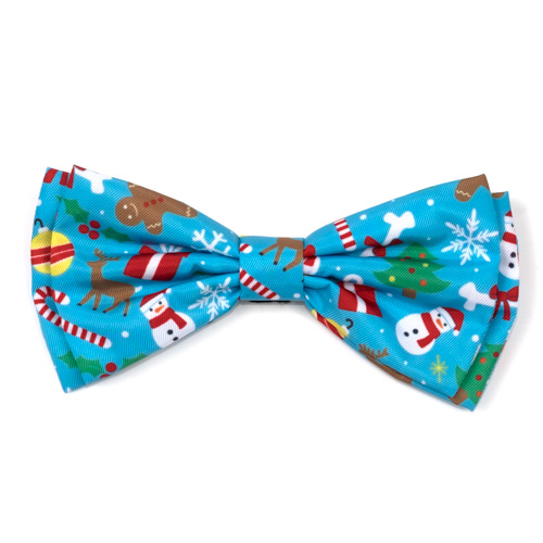 The Worthy Dog Bow Tie, Winter Wonderland, Large