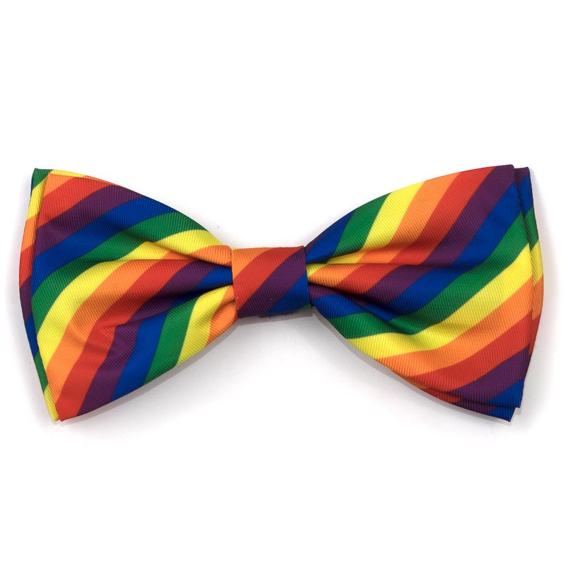 The Worthy Dog Bow Tie, Rainbow, Large