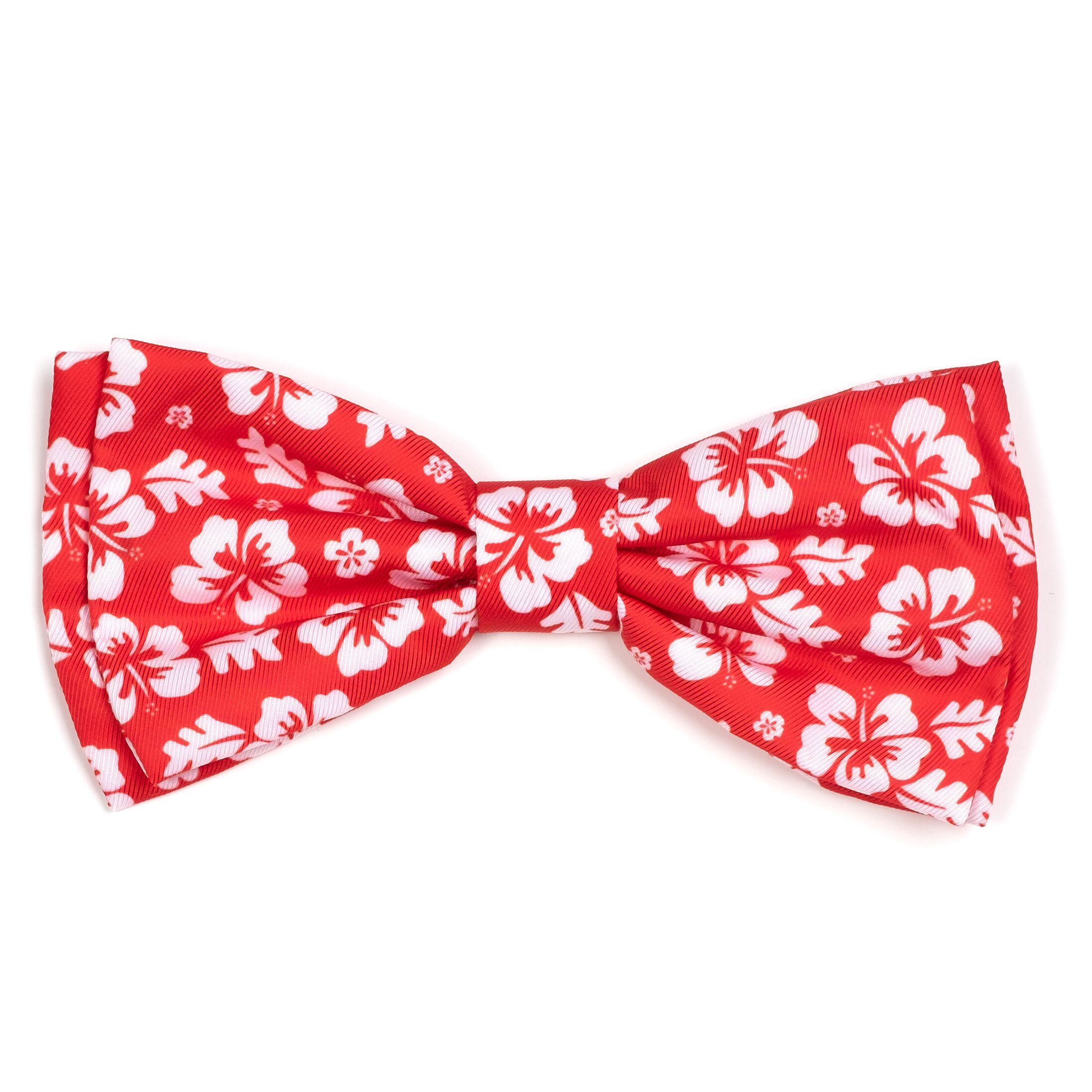 The Worthy Dog Bow Tie, Aloha Coral, Small