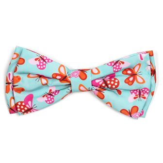 The Worthy Dog Bow Tie, Butterflies, Large