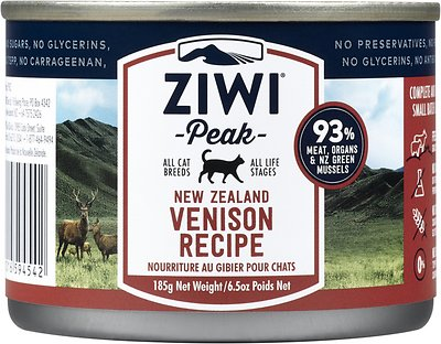 Ziwi Cat Peak Venison Recipe Canned Cat Food, 6.5-oz, case of 12