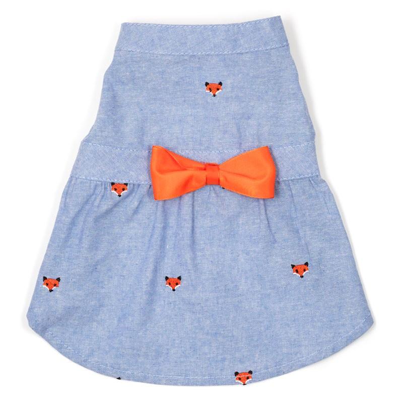 The Worthy Dog Dress, Foxy Chambray, XX-Large