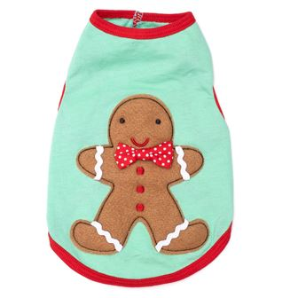 The Worthy Dog Tee, Gingerbread Andy, Small