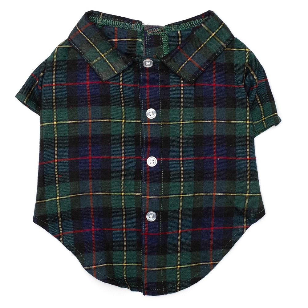 The Worthy Dog Shirt, MaCleod Tartan, X-Large