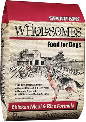 SPORTMiX Wholesomes Chicken Meal & Rice Formula Adult Dry Dog Food