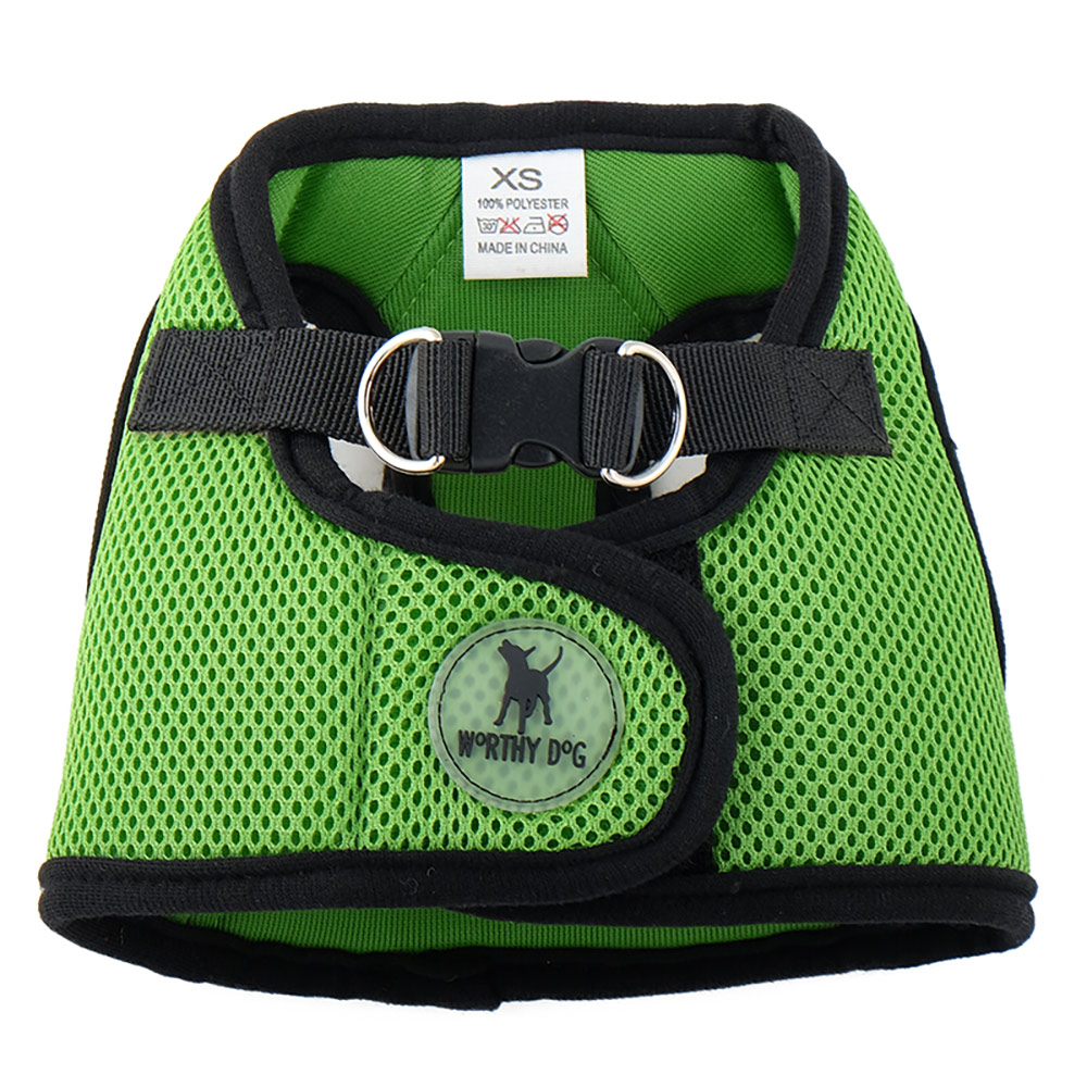 The Worthy Dog Sidekick Harness, Lime, Tiny (9-11-in)