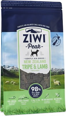 Ziwi Dog Peak Tripe & Lamb Recipe Air-Dried Dog Food, 5.5-lb bag