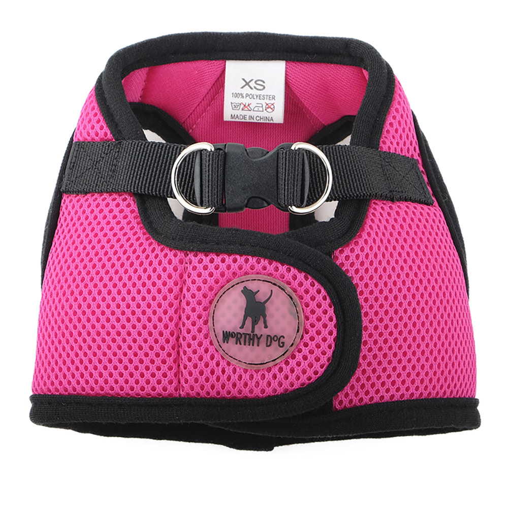 The Worthy Dog Sidekick Harness, Pink, Tiny (9-11-in)