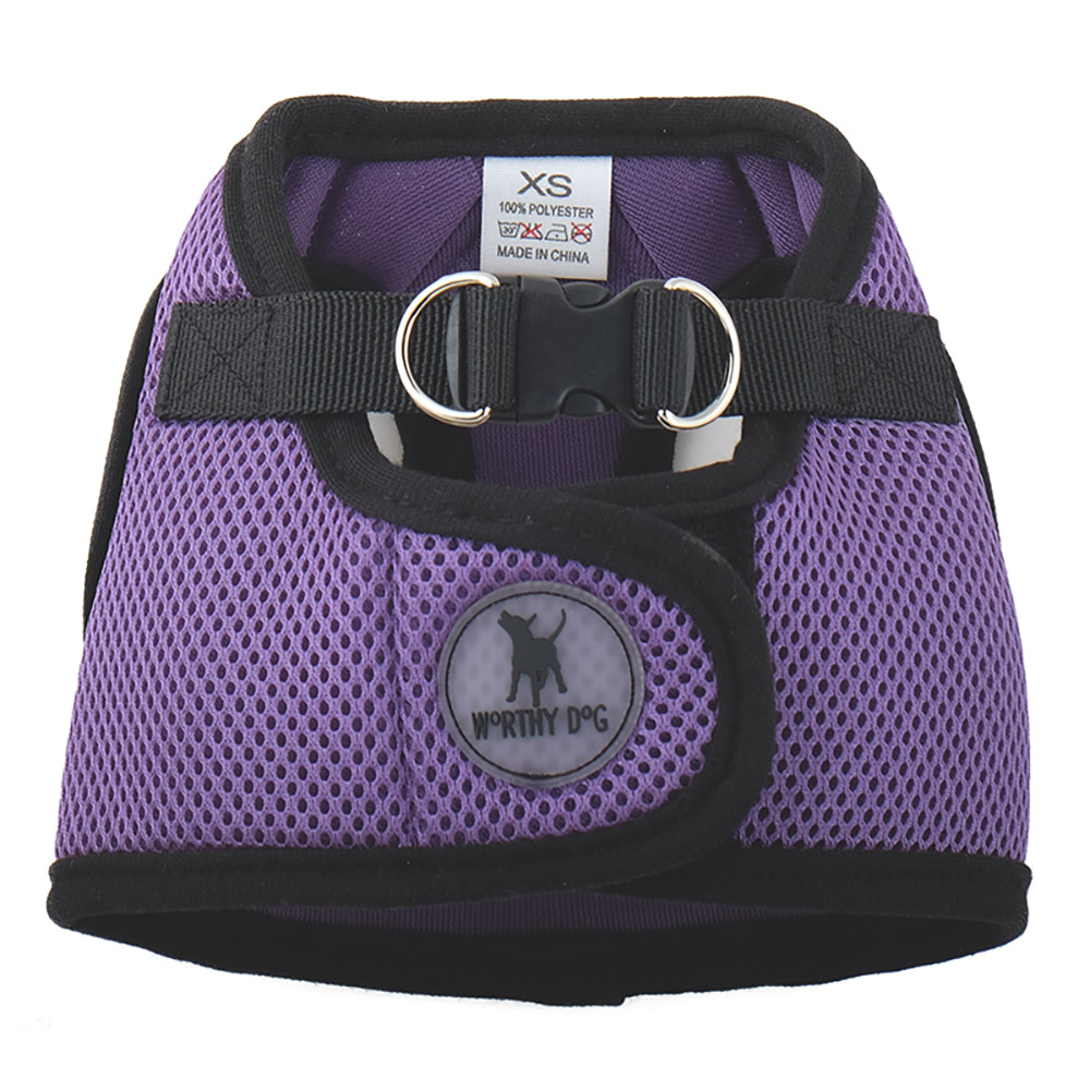 The Worthy Dog Sidekick Harness, Purple, Tiny (9-11-in)