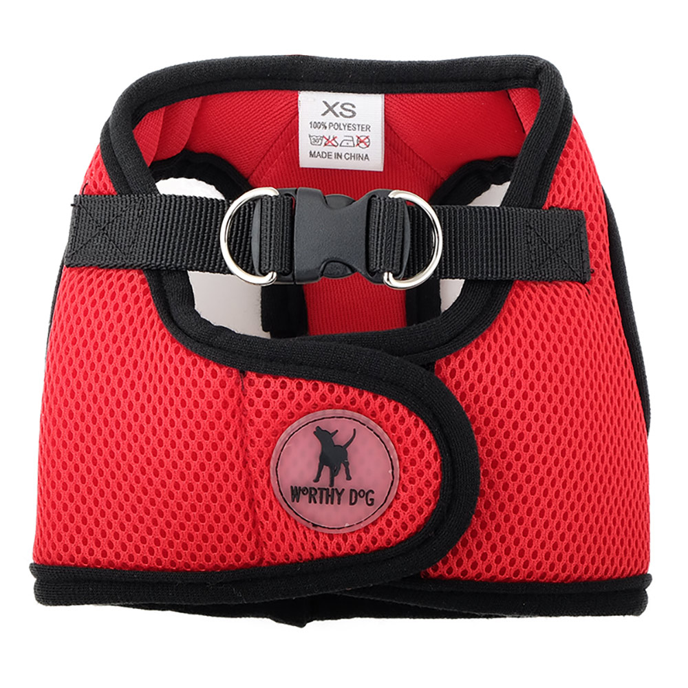 The Worthy Dog Sidekick Harness, Red, Tiny (9-11-in)