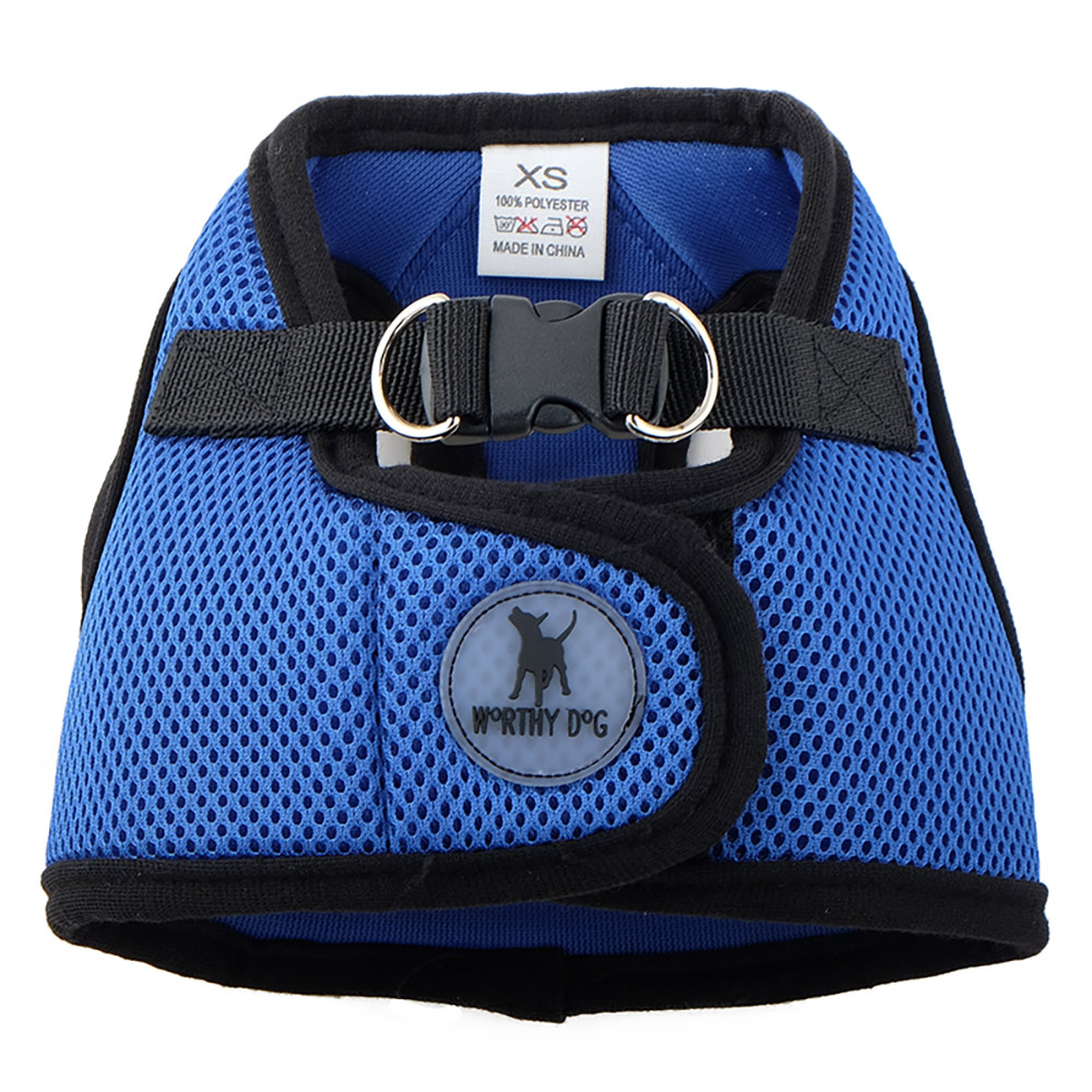 The Worthy Dog Sidekick Harness, Royal Blue, Tiny (9-11-in)