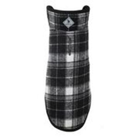 The Worthy Dog Alpine Jacket, White & Black Plaid, 8-in
