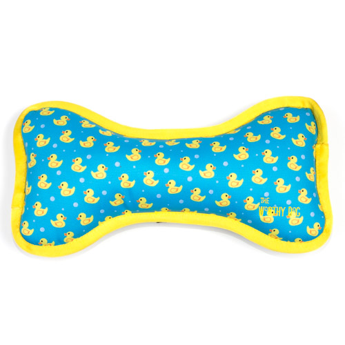The Worthy Dog Bone Toy, Rubber Duck, Large