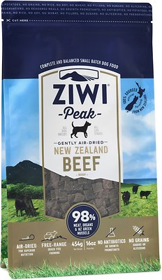 Ziwi Dog Peak Beef Recipe Grain-Free Air-Dried Dog Food, 16-oz bag