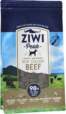 Ziwi Dog Peak Beef Recipe Grain-Free Air-Dried Dog Food, 8.8-lb bag