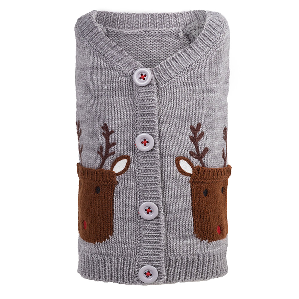 The Worthy Dog Cardigan, Reindeer, X-Large