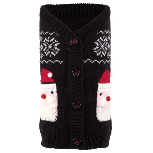 The Worthy Dog Cardigan, Santa, X-Small