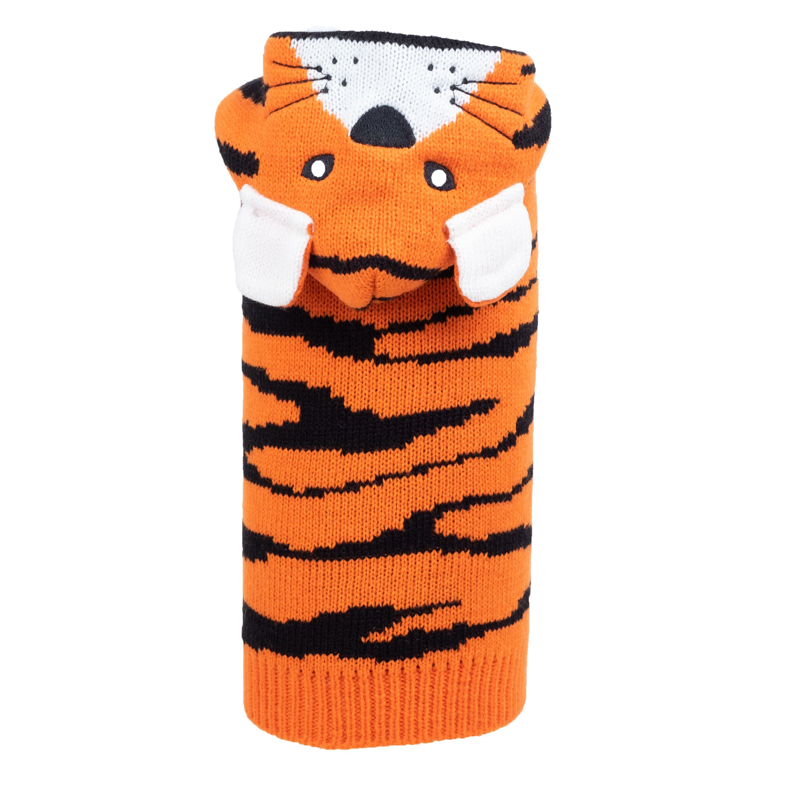 The Worthy Dog Hoodie, Tiger, X-Small