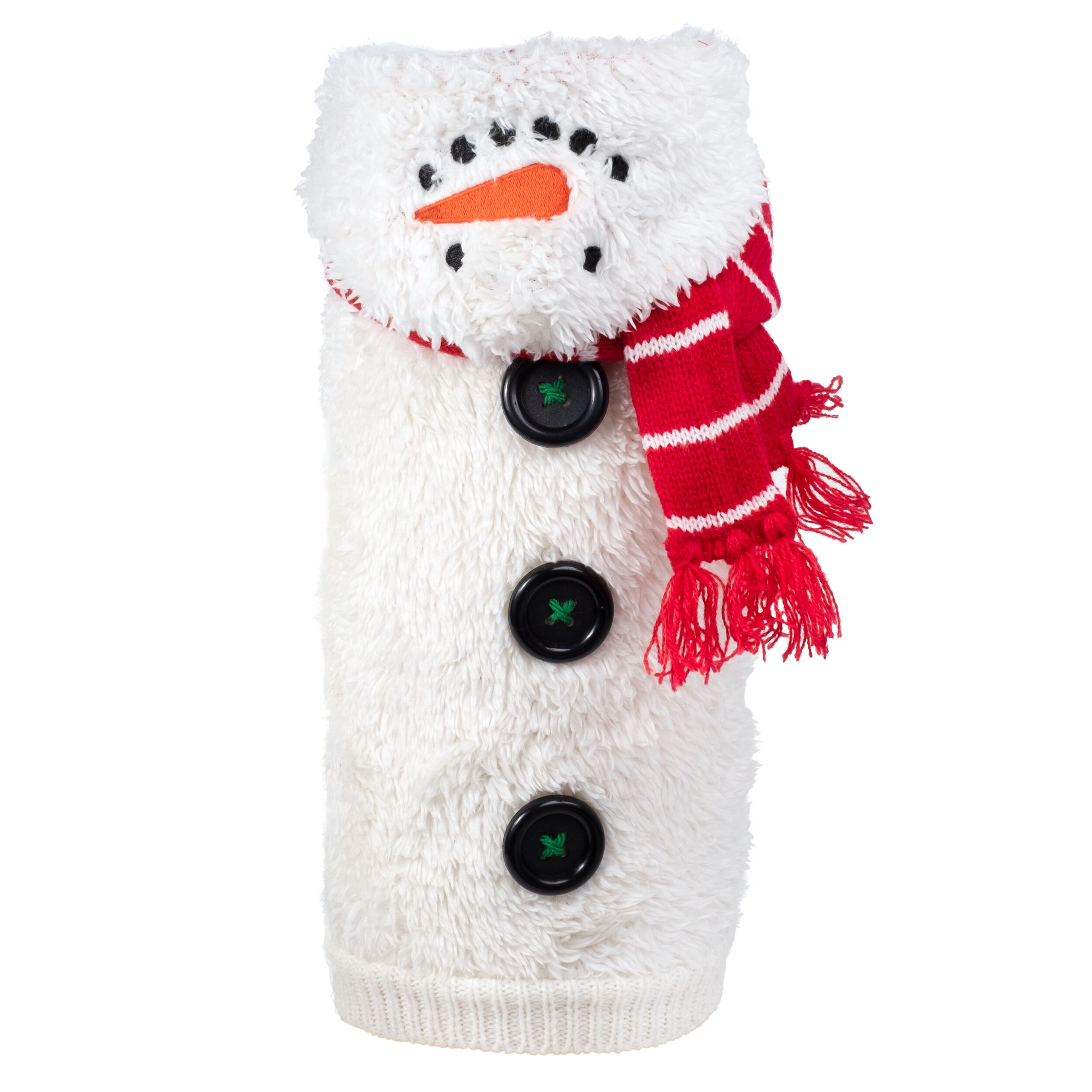The Worthy Dog Hoodie, Snowman, Small