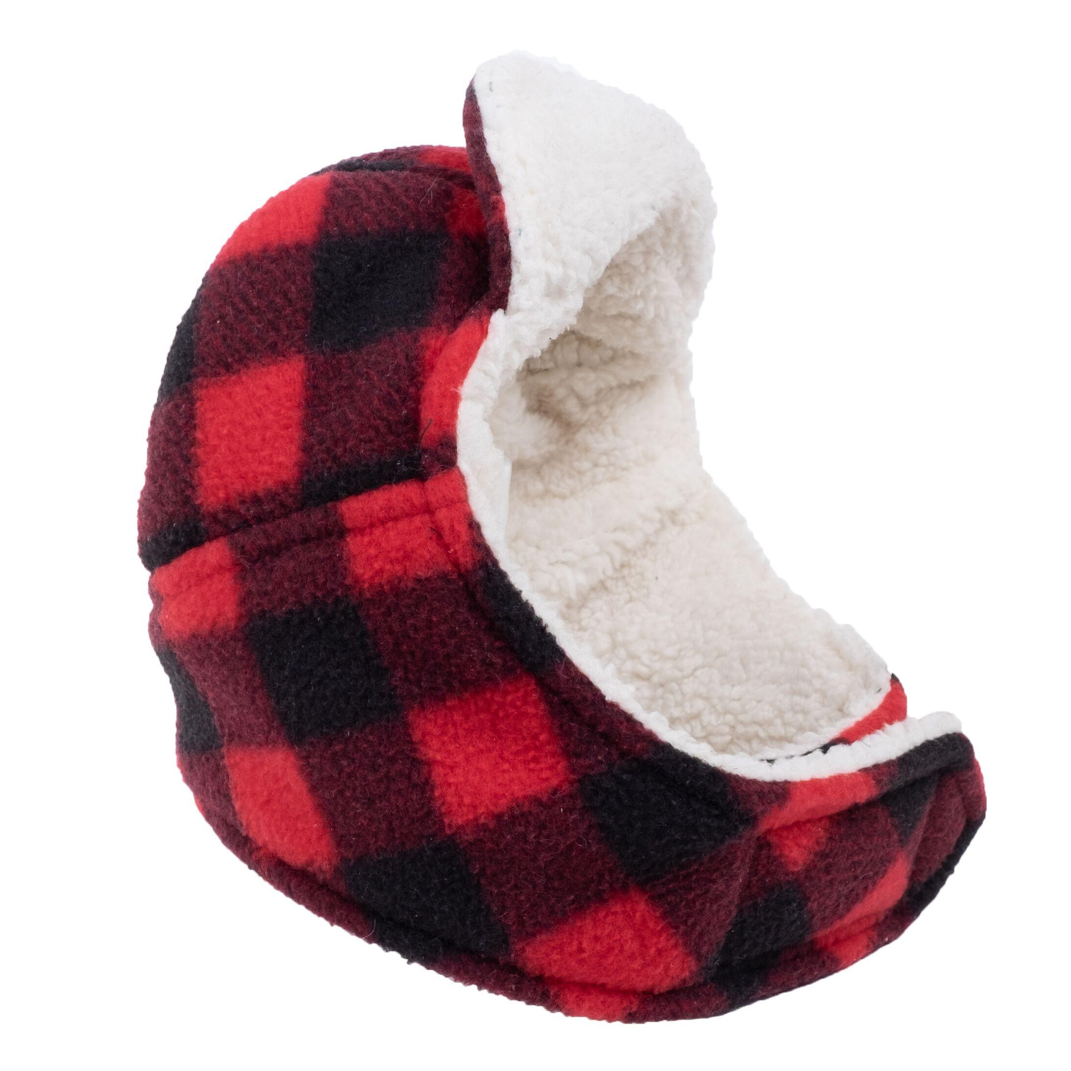 The Worthy Dog Aviator Hat Red, Buffalo Plaid, Small