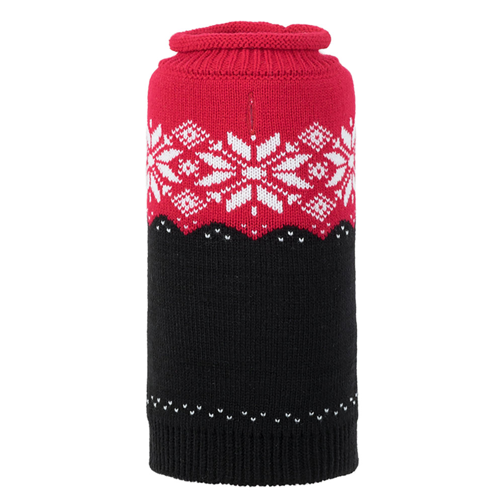 The Worthy Dog Roll Neck Sweater, Ski Lodge Red & Black, X-Small