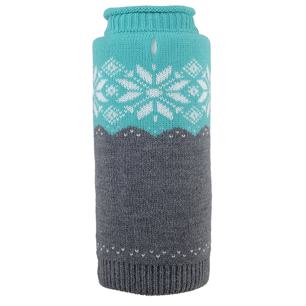 The Worthy Dog Roll Neck Sweater, Ski Lodge Teal, XX-Small