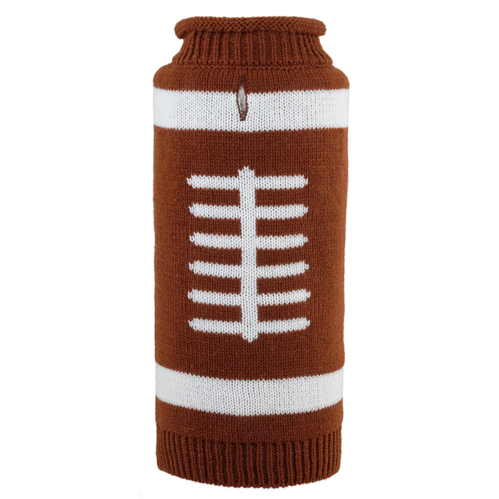 The Worthy Dog Roll Neck Sweater, Touchdown, X-Small